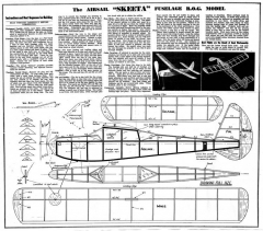 Skeeta model airplane plan