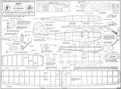 Skip model airplane plan