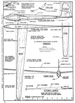 Skua model airplane plan
