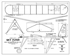Sky Flyer model airplane plan