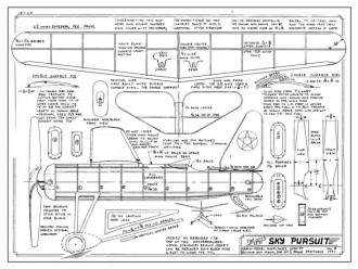 Sky Pursuit model airplane plan