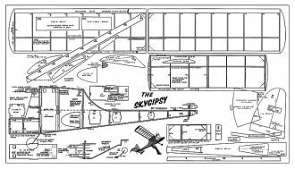 Sky-Gypsy 36in model airplane plan