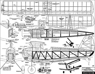 SkyBuggy Berkeley 1947 model airplane plan
