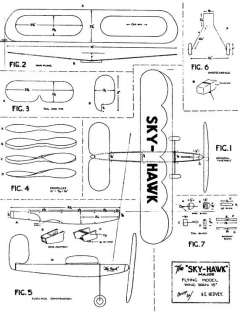 Sky Hawk Major model airplane plan