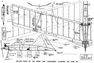 Sky Wing model airplane plan