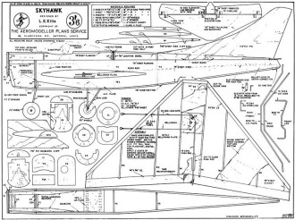 Skyhawk model airplane plan