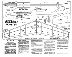 Skyjet 50 kk model airplane plan