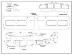 Skylark 1S Micro model airplane plan
