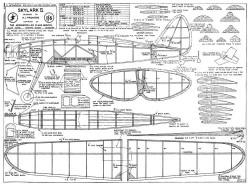 Skylark II model airplane plan
