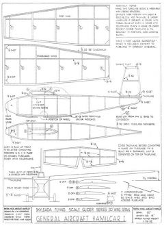 Skyleada Hamilcar 1 Glider model airplane plan