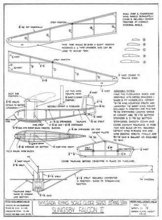 Skyleada Slingsby Falcon III model airplane plan
