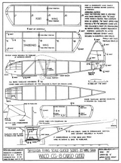 Waco CG-13 Cargo Glider model airplane plan
