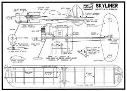 Skyliner model airplane plan
