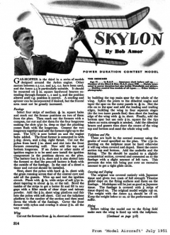 Skylon model airplane plan