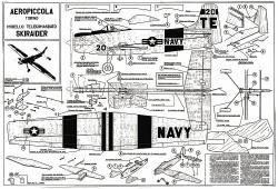 Skyraider CL model airplane plan