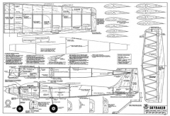 Skyraker-RCM-10-70 445 model airplane plan