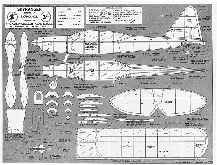 Skyranger plan model airplane plan