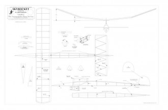 Skyrocket BW Print model airplane plan