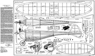 Skyrocket Berkeley model airplane plan