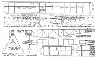 Skyscout model airplane plan