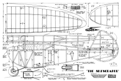 Skyscraper 1938 model airplane plan