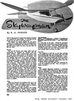 Skywayman model airplane plan