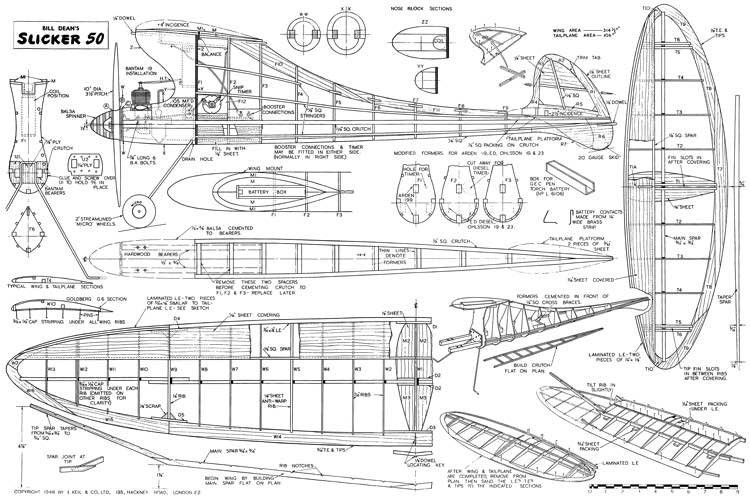 Slicker 50 model airplane plan