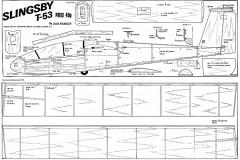 Slingsby T53 model airplane plan