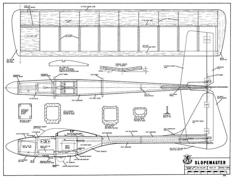 Slopemaster model airplane plan