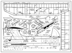 Small Free Flight model airplane plan
