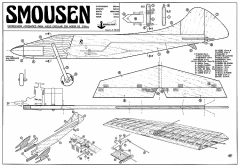 Smousen Modelhob CL model airplane plan