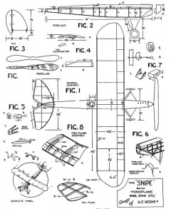 Snipe 28in model airplane plan