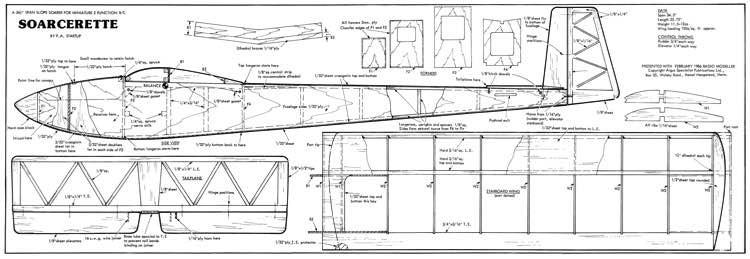 Soarcerette model airplane plan
