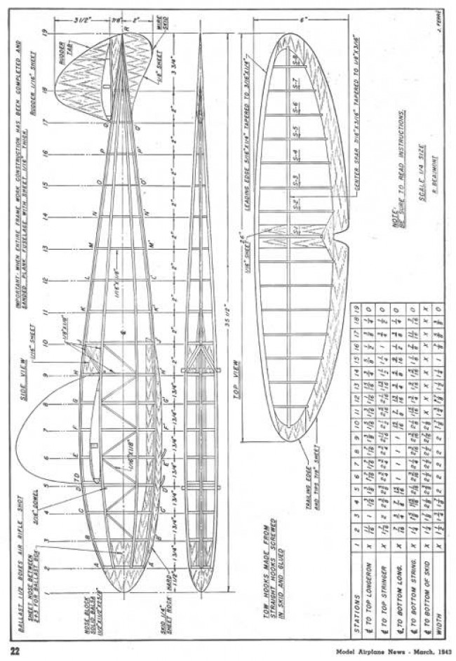 Soaring Champ 1943 model airplane plan