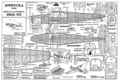 Sokol M-1C CL model airplane plan