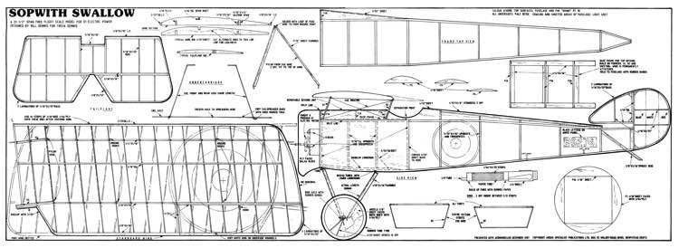 SopwithSwallow model airplane plan