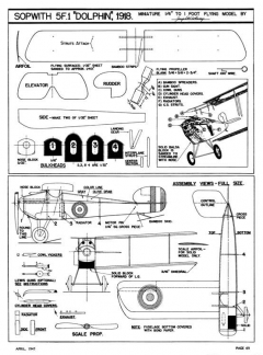 Sopwith 5F.1 Dolphin-Air Trails 04-47 model airplane plan