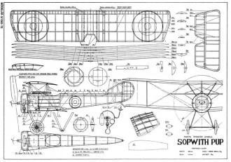Sopwith Pup 24in model airplane plan