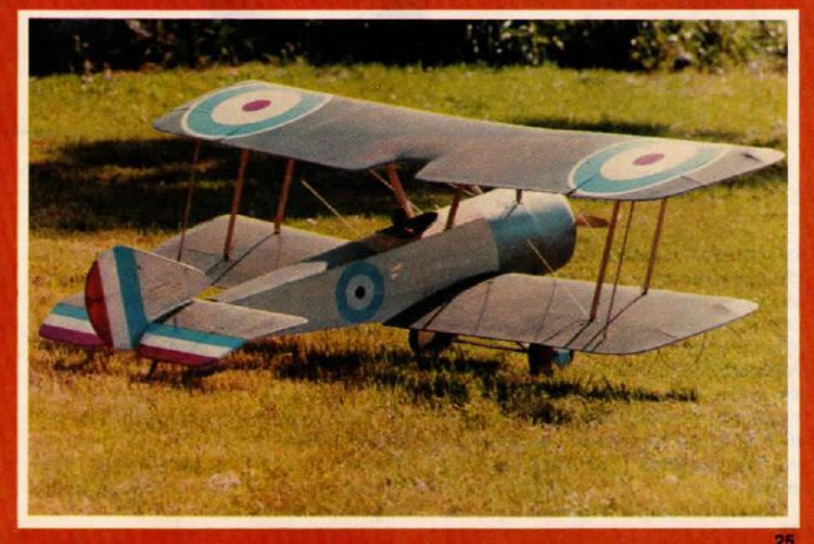 Sopwith Pup 28percent model airplane plan