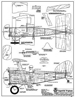 Sopwith Triplane-RCM-478 model airplane plan