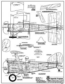 Sopwith Triplane-RCM-478 model airplane plan