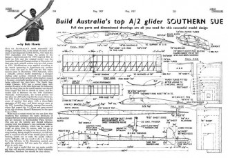 Southern Sue A2 glider 46in model airplane plan