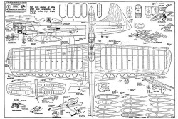 Spacehound model airplane plan