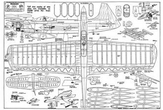 Spacehound model airplane plan