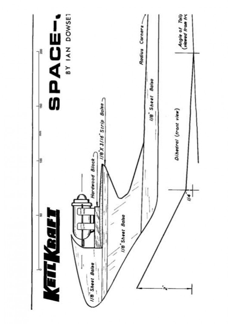 Spacejet model airplane plan
