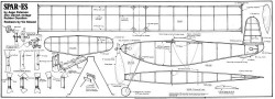 Spar-ES vintage rubber model airplane plan