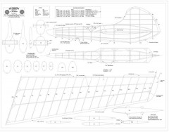 Sparrow Print BW model airplane plan
