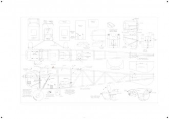 Spartan BW print model airplane plan