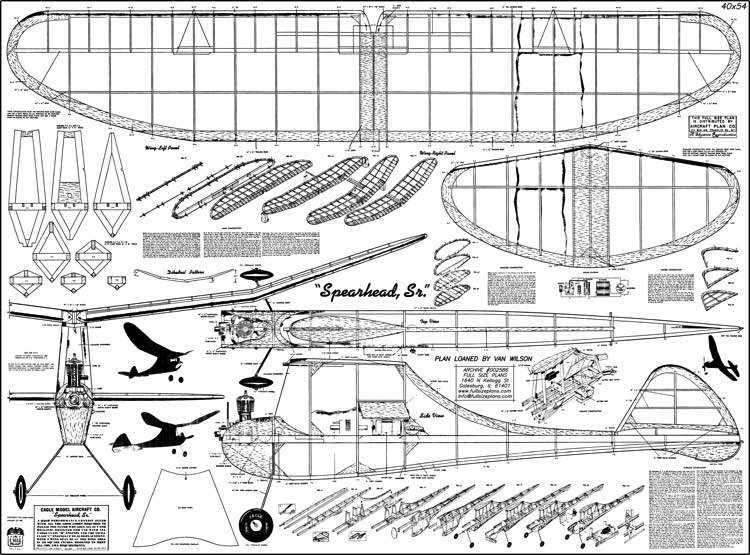 Spearhead S model airplane plan