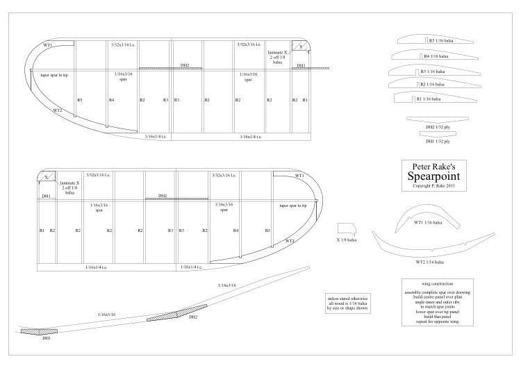 Spearpoint model airplane plan